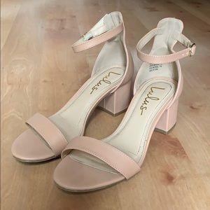 Lulu's Harper Almond Ankle Strap Heels